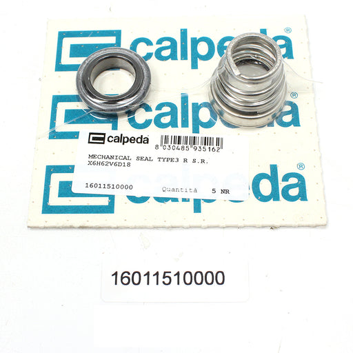 CALPEDA PUMP SHAFT SEAL REPLACEMENT - MECHANICAL SEAL TYPE3 R S.R. X6H62V6D18 - 16011510000