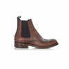 Burnished leather brogue chelsea boot