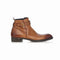 Burnished leather strap boot