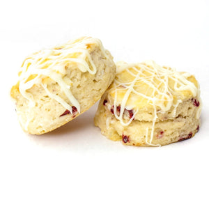 White Chocolate Raspberry Biscuits