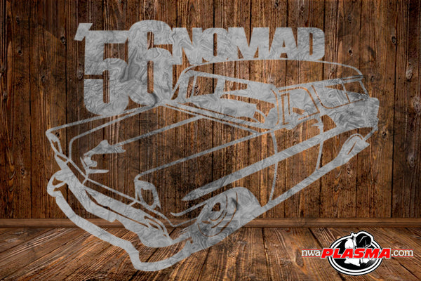 CUT READY, 1956 Chevrolet Chevy Nomad, SVG, DXF