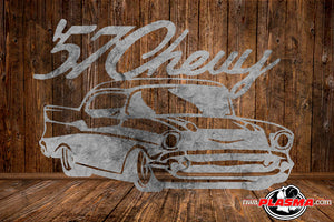 CUT READY, 1957 57 Chevy silhouette, SVG, DXF