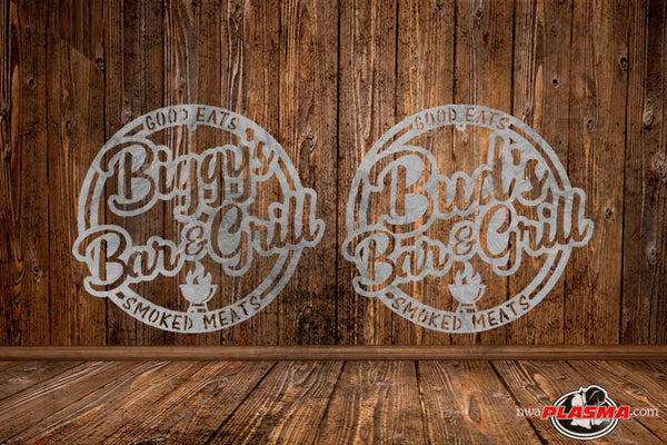 CUSTOMIZED CUT READY, Bar & Grill, SVG, DXF