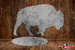 CUT READY, Buffalo Bison with stand, all letters, SVG, DXF