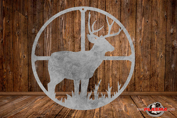 CUT READY, Deer Buck in Scope, SVG, DXF