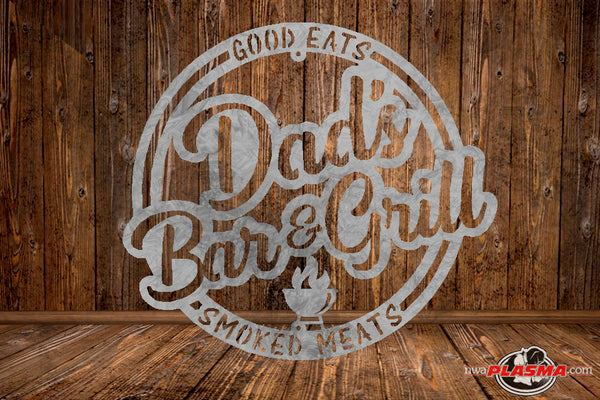 CUT READY, Dads Bar & Grill, SVG, DXF