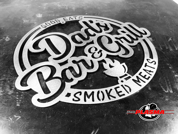 Dads Bar & Grill, customize with your lettering