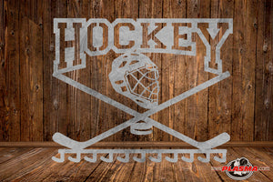 CUT READY, Hockey Ribbon Holder, SVG, DXF