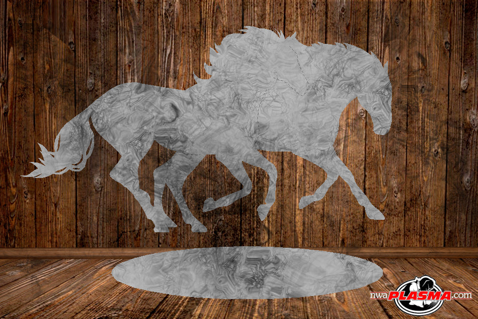 CUT READY, Horses Running with stand, SVG, DXF