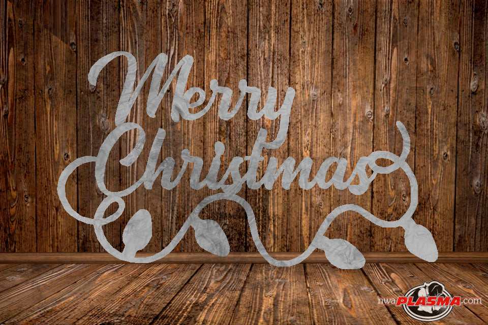 CUT READY, Merry Christmas Lights, SVG, DXF