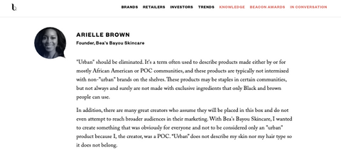 Bea's Bayou Skincare | Arielle Brown | Beauty Independent