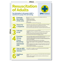 Load image into Gallery viewer, Adult Resuscitation Poster