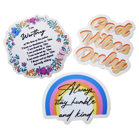 3-Piece Sticker Collection Pack (3 Stickers)