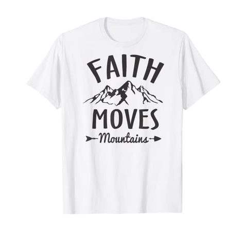 Faith Moves Mountains Christian Unisex Short-Sleeve T-Shirt (Purchase Link In Description)