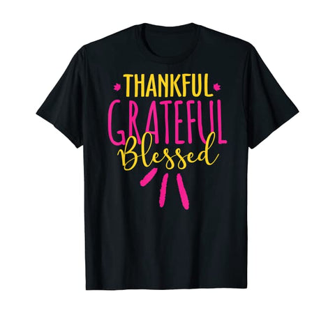 Thankful Grateful Blessed Christian Unisex Short-Sleeve T-Shirt (Purchase Link In Description)