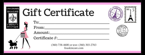 Gift Certificate for Microdermabrasion