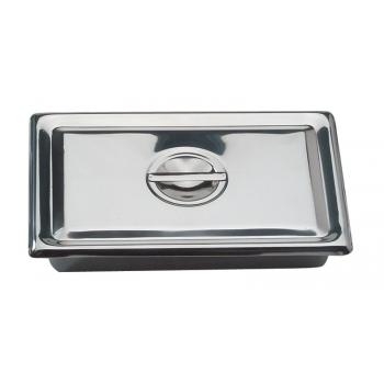 YMSI2064 Instrument Tray With Lid Stainless Steel 300 x 200 x 65mm YMM Solutions Melbourne