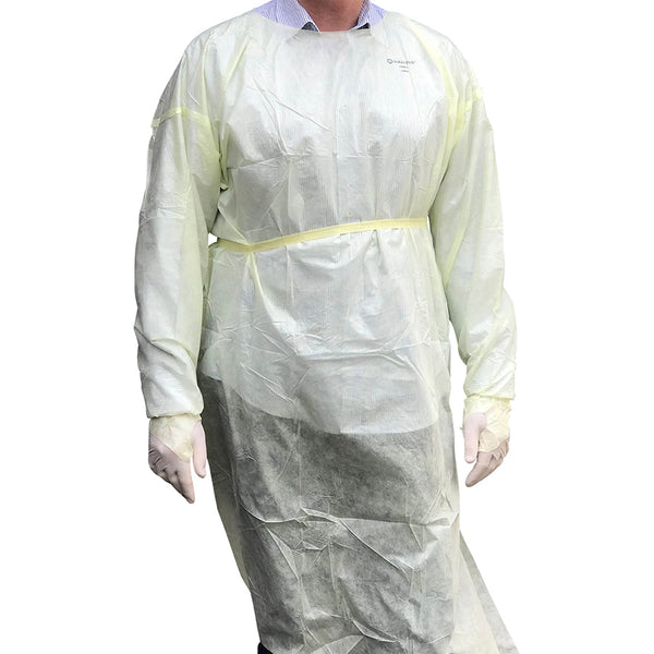 YMPW2065 Protective Isolation Gown Level 2 Tri Layer (Large) 10/pack YMM Solutions Melbourne