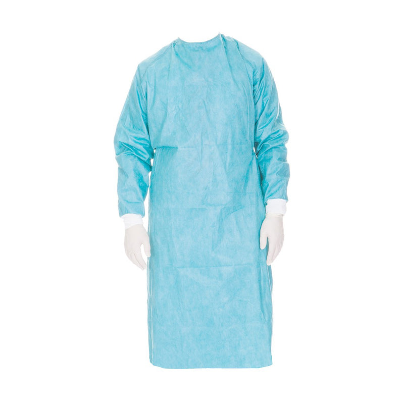 YMPW2066 Isolation Gown Cuffed Sleeve 50/pack YMM Solutions Melbourne