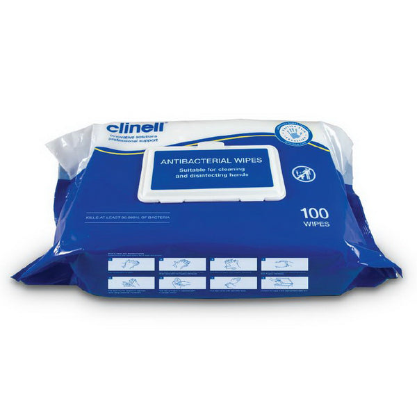 YMSW2024-CTN Clinell Antibacterial Hand Wipes 54 x Purse Size per carton YMM Solutions Melbourne