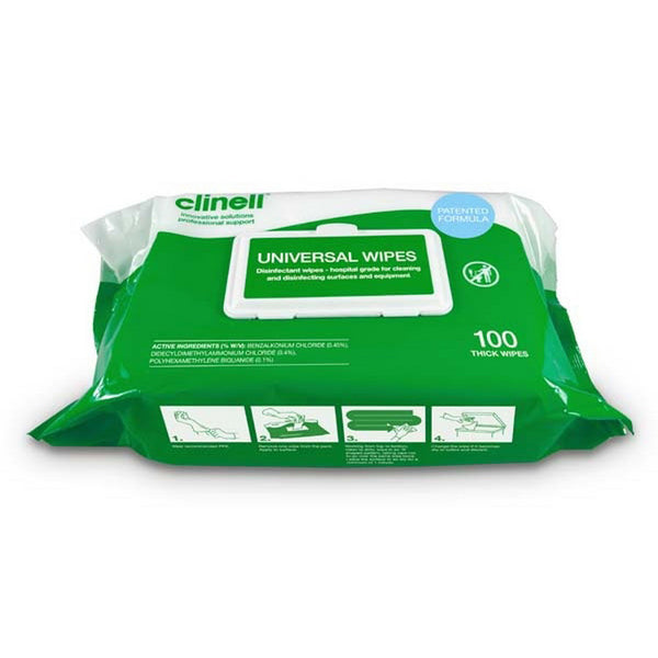 YMSW2027 Clinell Thick Surface Wipes 100 wipes/pack YMM Solutions Melbourne