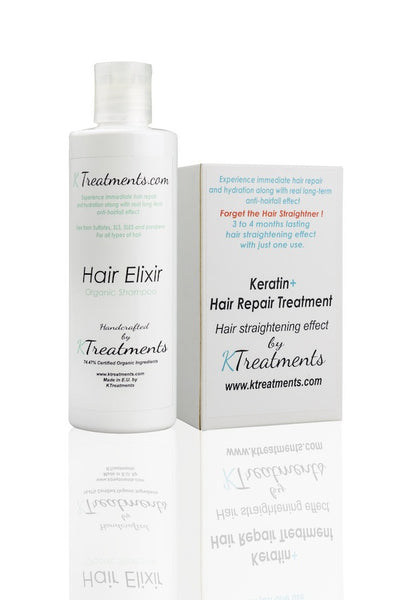 Tratament keratina KTreatments Sampon organic Hair Elixir