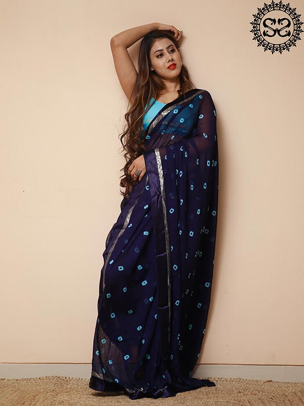 SKY BLUE SAREE