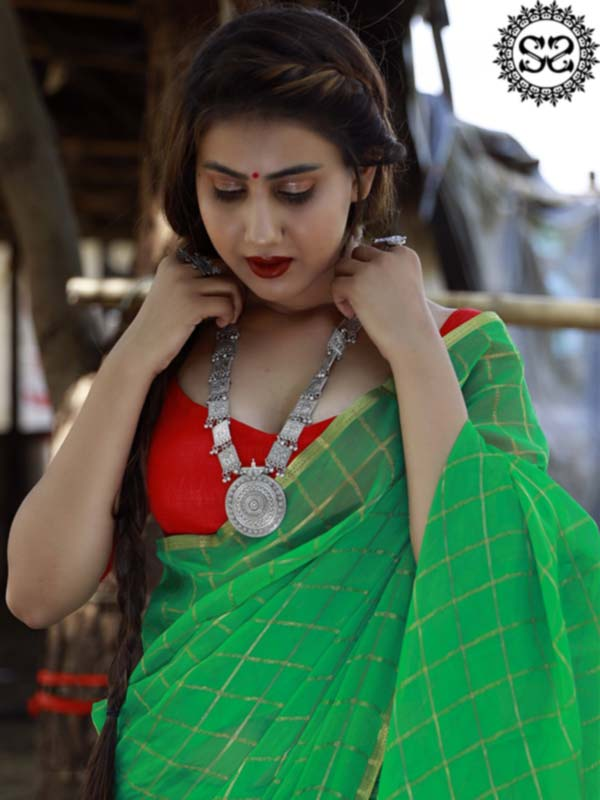 GREEN IS THE COLOR OF HOPE SAREE