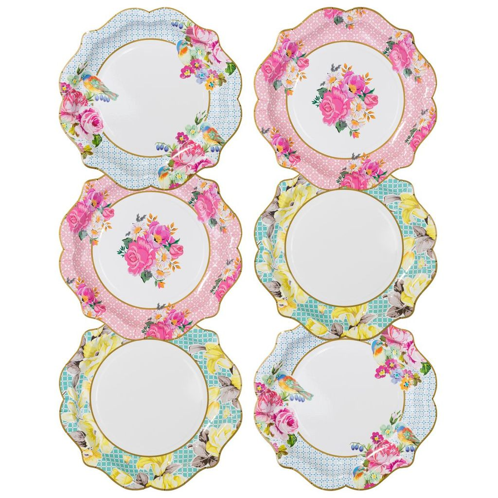 Vintage Style Paper Plates