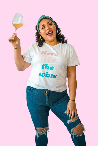 here for the wine t shirt