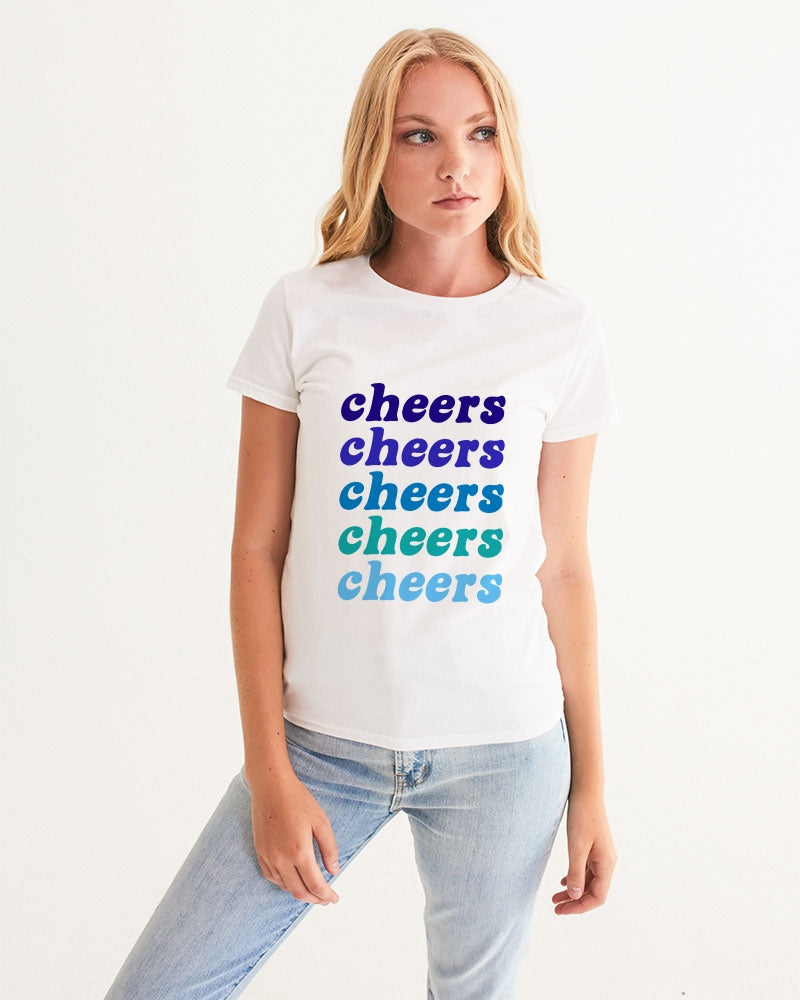 Holiday Cheers Hanukkah Colors Women's Graphic Tee