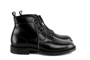 Black Cordovan Navy Boot on Commando Sole