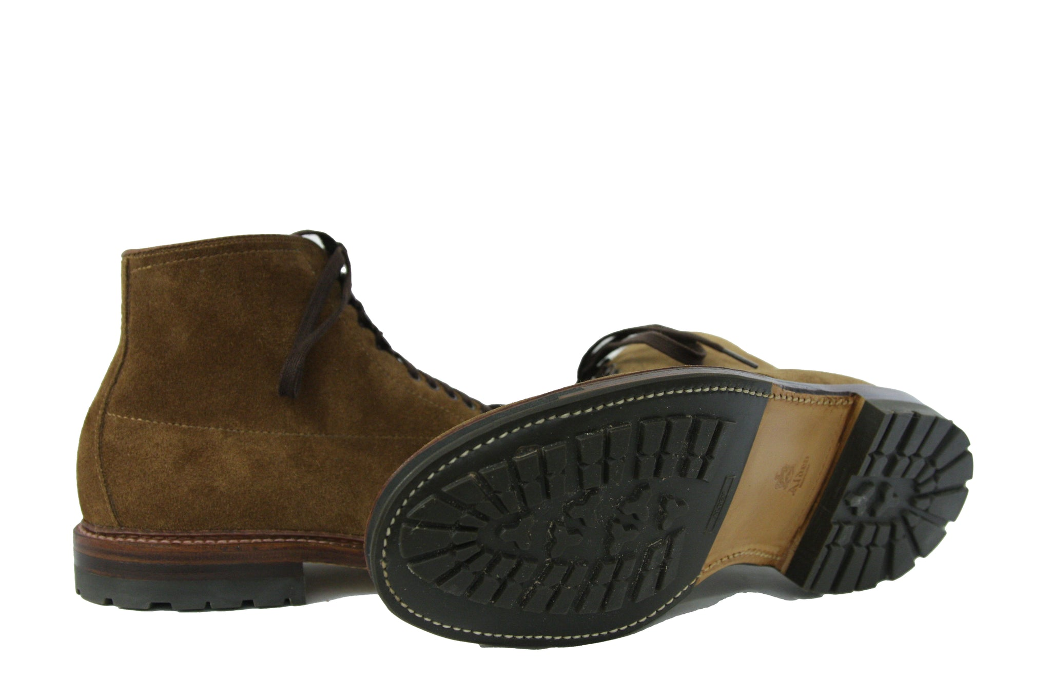 Alden Shoes Indy True Balance Workboot Snuff Suede Commando Sole