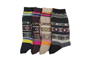 Antipast Womens Socks from Japan - Tyrollean Stripes at Halo Shoes