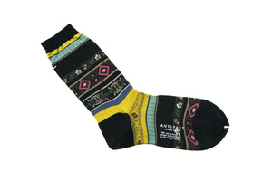 Antipast Womens Socks from Japan - Tyrollean Stripes at Halo Shoes Green
