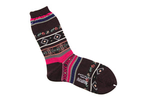 Antipast Womens Socks from Japan - Tyrollean Stripes at Halo Shoes Wine
