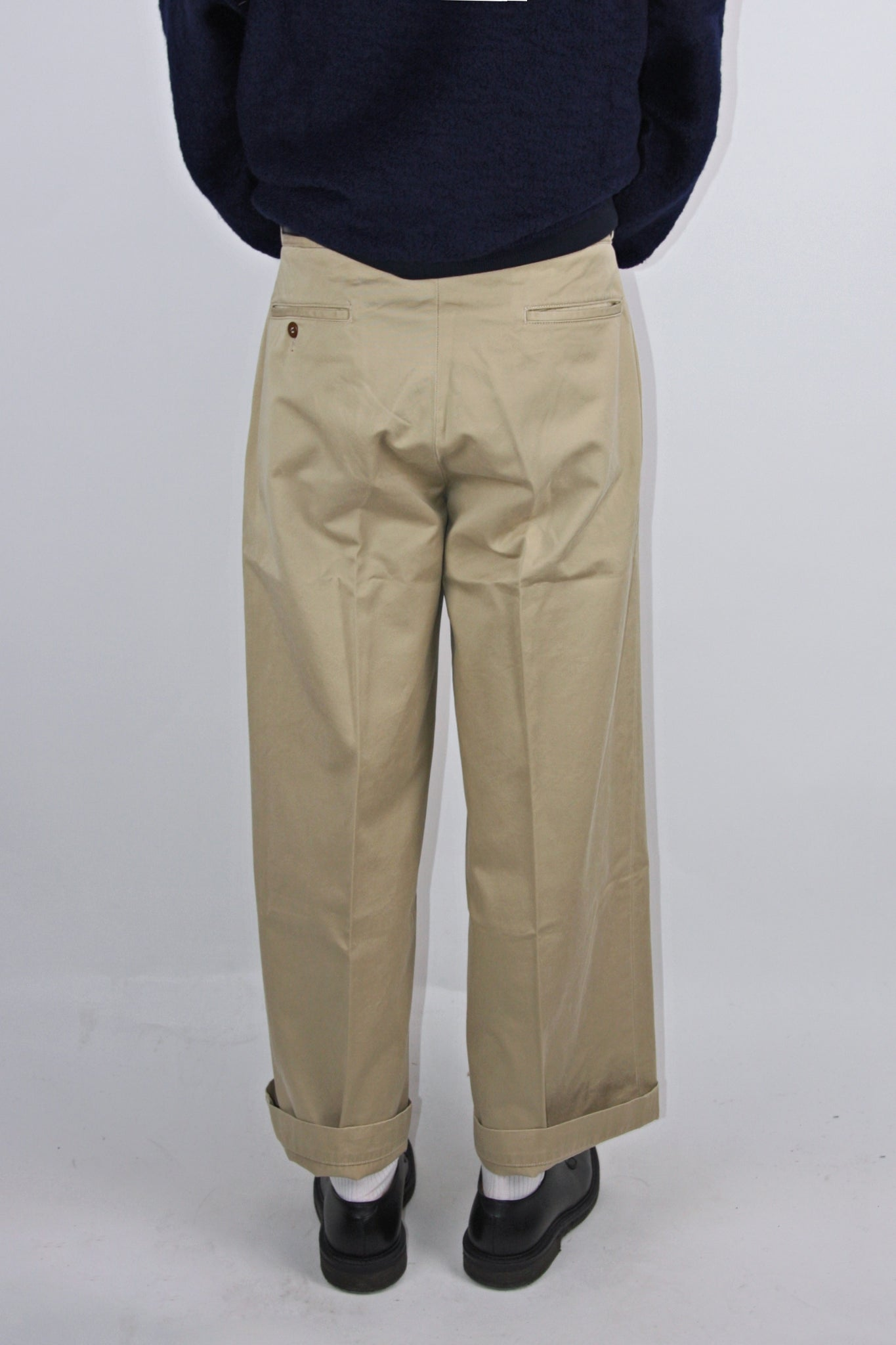Chimala Men's Cotton Twill Beige Officer Chino Pant