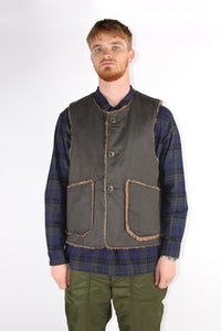 Engineered Garments Olive Twill Over Vest