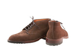 Alden Six Eyelet Plain Toe Dark Brown Suede Chukka on Commando Sole