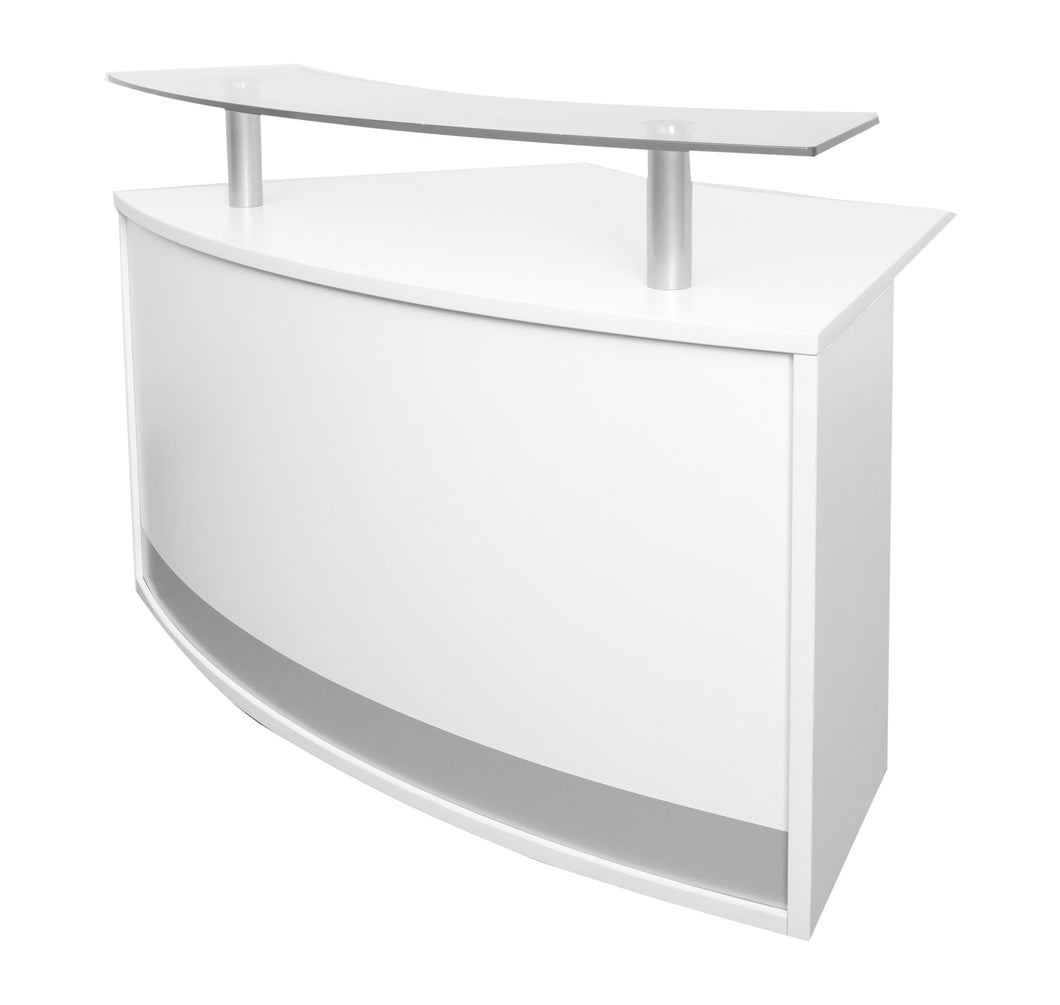 Modular Reception Counter Module - Natural White