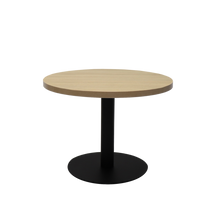 Load image into Gallery viewer, Round Coffee Table with flat Disc Base - Black Powder Coat Finish
