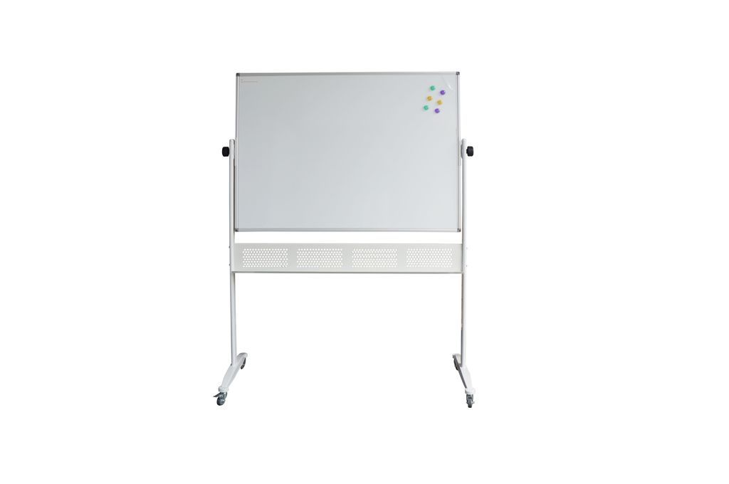 Mobile Porcelain Whiteboard - 1500mm W x 1200mmm H x 15mm D