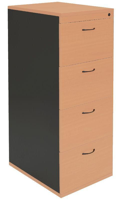 4 Drawer Filing Cabinet - Assembled