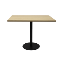 Load image into Gallery viewer, Square Flat Disc Base Table in Black Powder Coat Finish