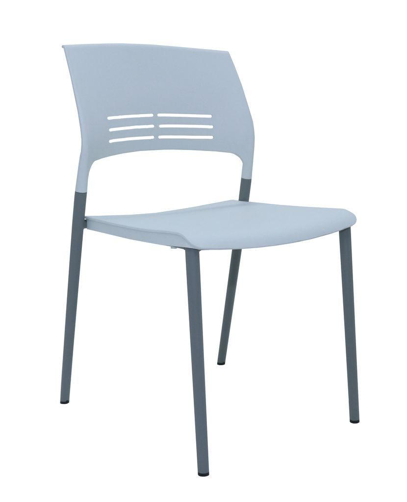 Aloha Chair - White Elastic Polypropylene Breakout & Meeting Chair
