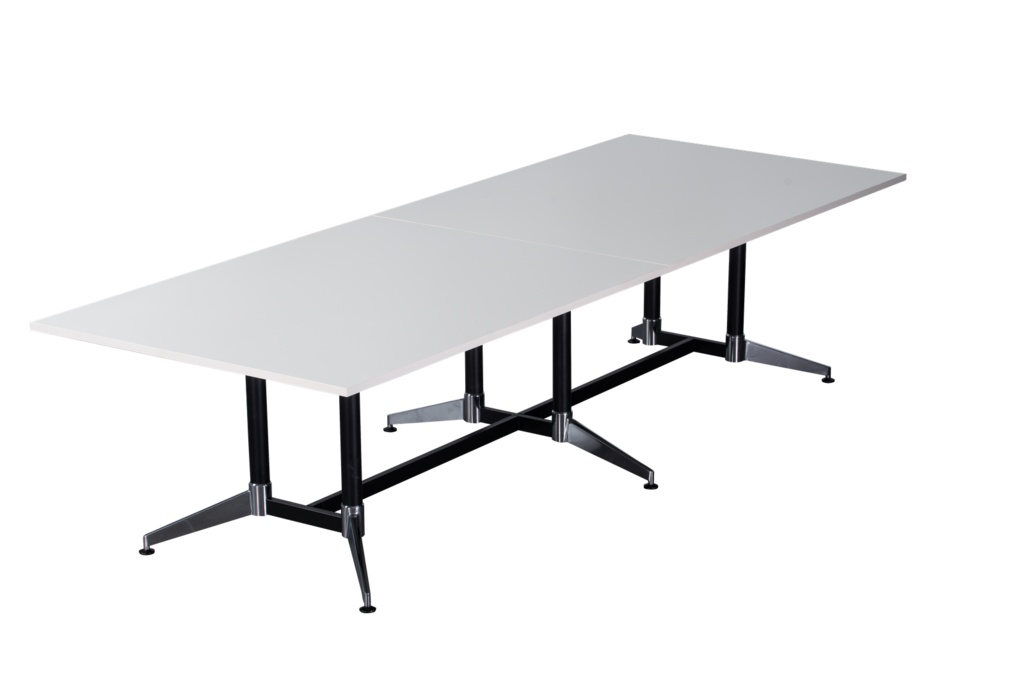 Typhoon Boardroom Table - Dual Post - 2 Piece Top - Double Stage