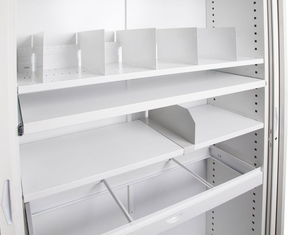 Go Pull Out File Reference Shelf To Suit 900mm W Tambour Door Unit