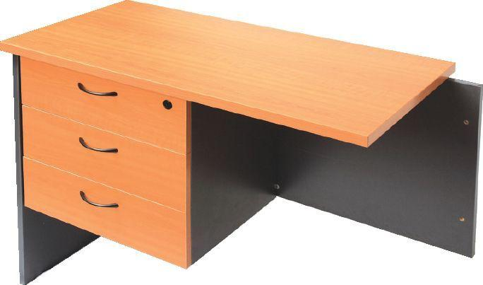 Fixed Under Desk Pedestal - 3 Personal Drawers