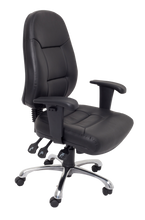 Load image into Gallery viewer, High Back PU Leather Commercial Grade Chair