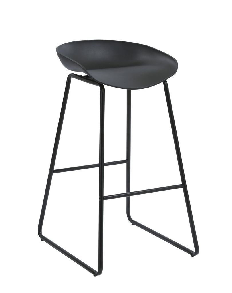 Aries Bar Stool - Black P/C Metal Base with Polypropylene Seat